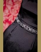 šaty detail 1, hořká čokoláda