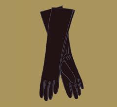 Kožené tmavě hnědé rukavice