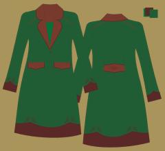 Vlněný kabát - Zelená, hnědá, hnědá