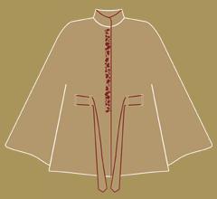 Vlněné paleto - Cappuccino s bordeaux