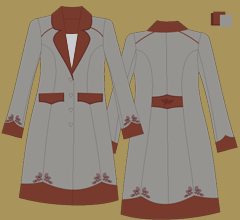 Vlněný kabát - Šedá, hnědá, hnědá