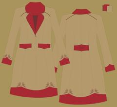 Vlněný kabát - Cappuccino, bordeaux, hnědá