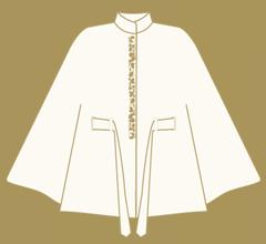 Vlněné paleto - Slonová kost s cappuccino