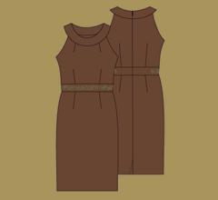 Šaty - Mléčná čokoláda
