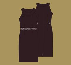 Šaty - Hořká čokoláda