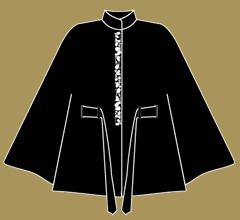 Vlněné paleto - Černá se slonovou kostí