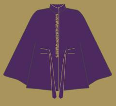 Vlněné paleto - Fialová s cappucccino