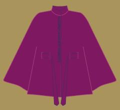 Vlněné paleto - Malinovo – švestková