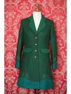 Vlněný kabát - Kombinace 3 zelených