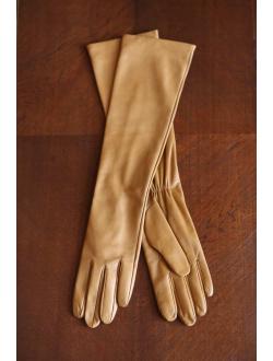 Kožené karamelové rukavice