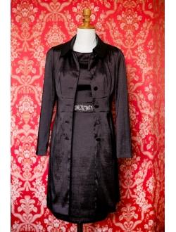 Šaty s kabátkem - Hořká čokoláda